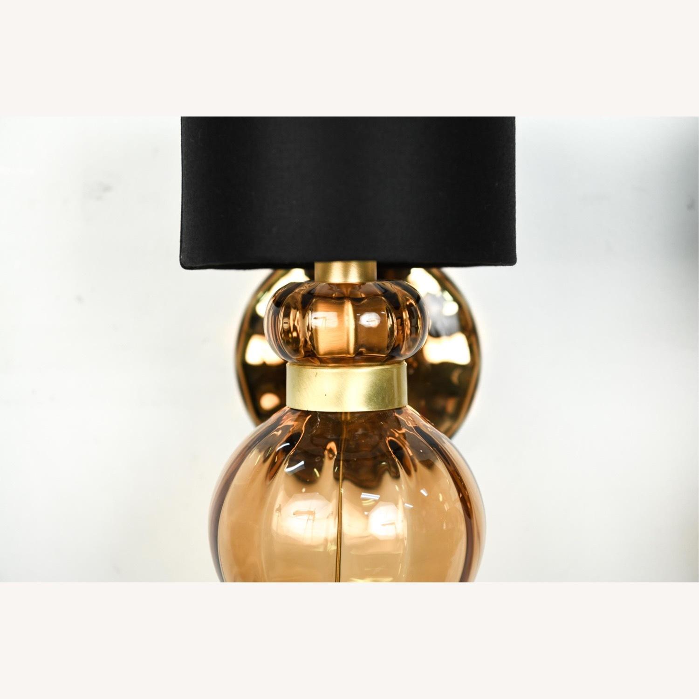 Donghia 'Regina' Glass Sconces in Sepia, PAIR - image-10