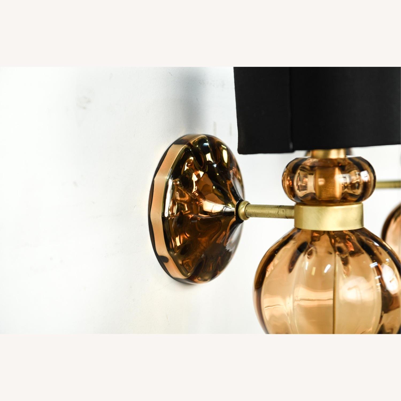 Donghia 'Regina' Glass Sconces in Sepia, PAIR - image-8