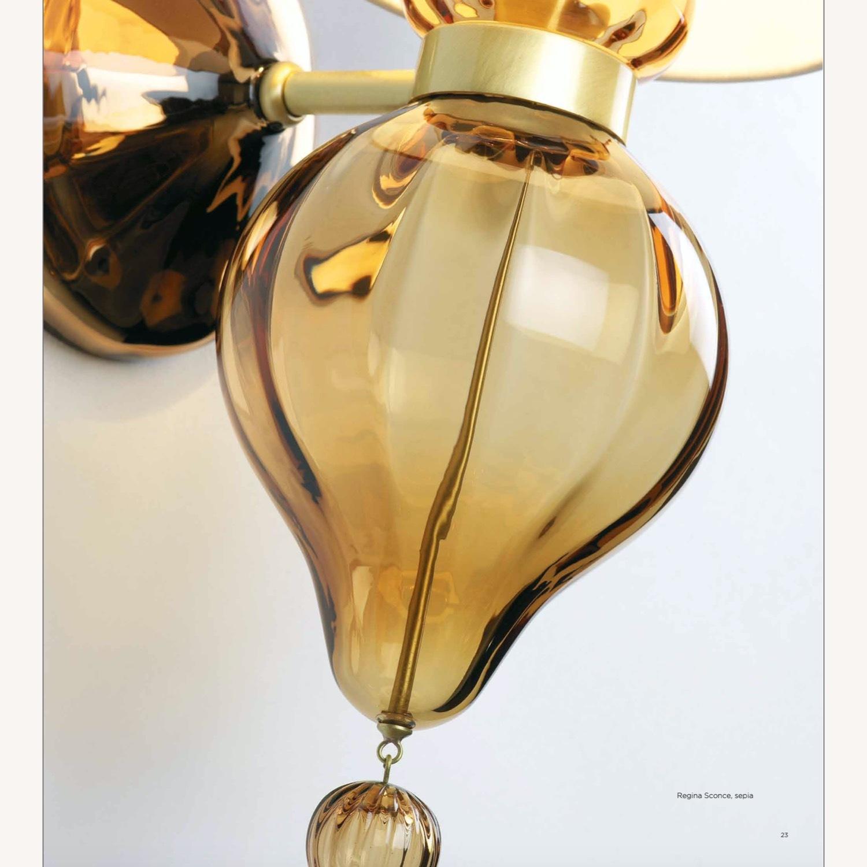 Donghia 'Regina' Glass Sconces in Sepia, PAIR - image-2
