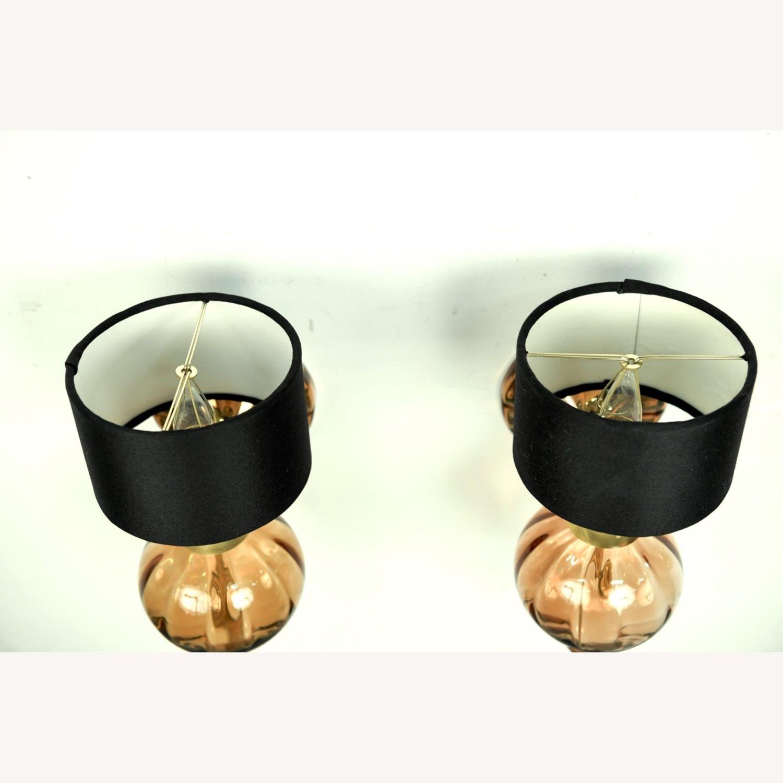 Donghia 'Regina' Glass Sconces in Sepia, PAIR - image-5