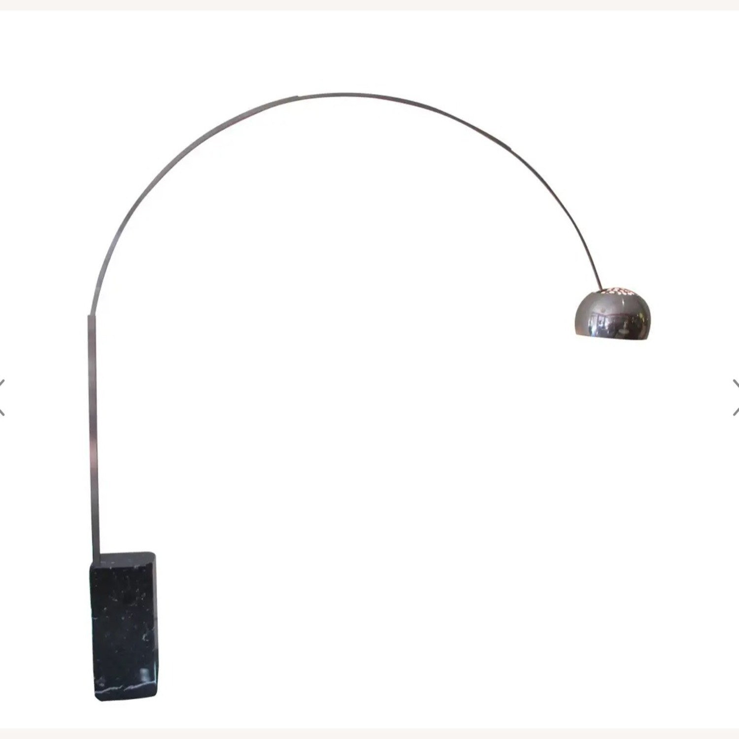 Authentic Arco Lamp in Black Marble - image-1