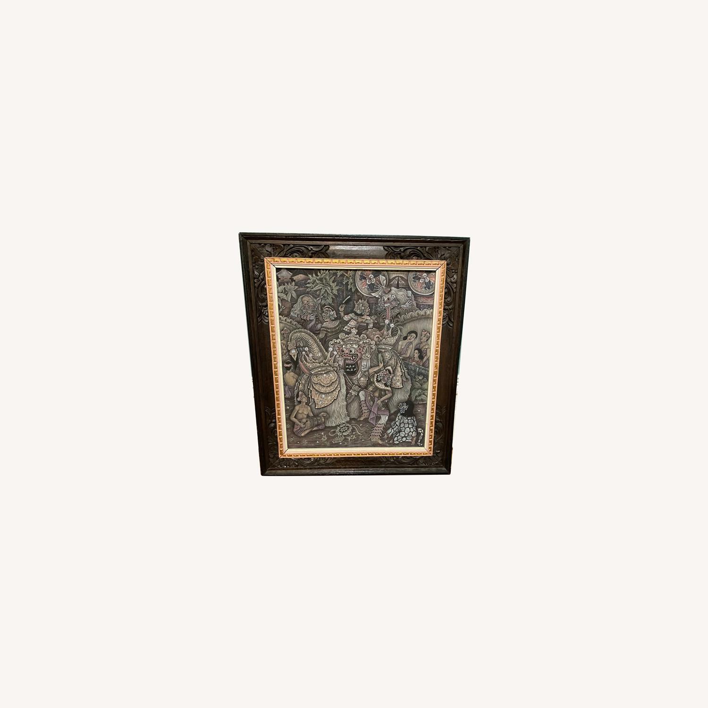 Vintage Ubud Indonesian Festival Painting - image-0