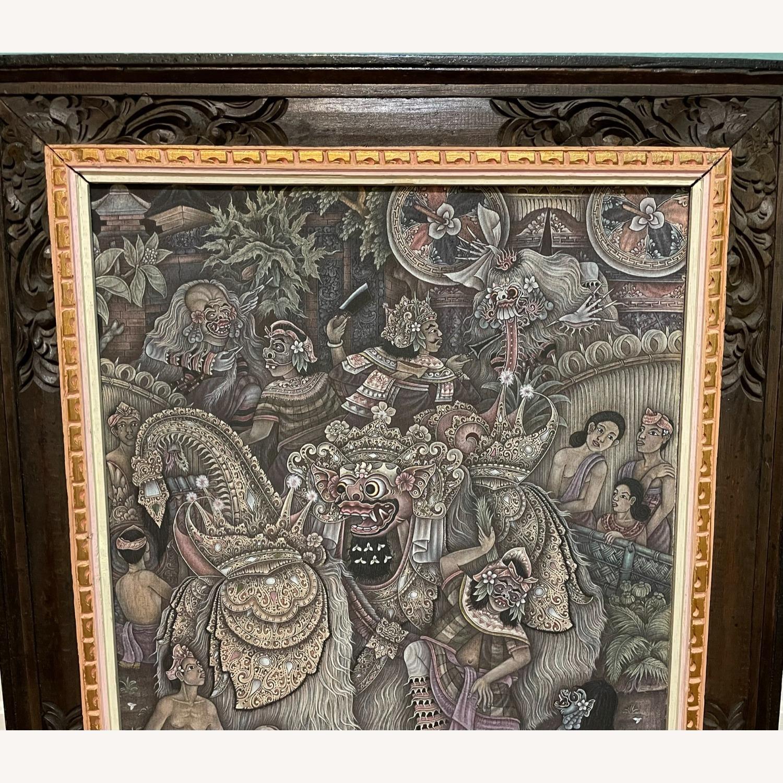Vintage Ubud Indonesian Festival Painting - image-2