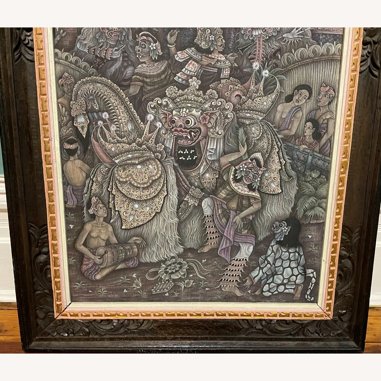 Vintage Ubud Indonesian Festival Painting - image-3