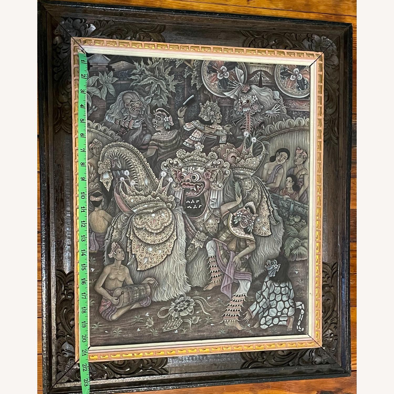 Vintage Ubud Indonesian Festival Painting - image-6