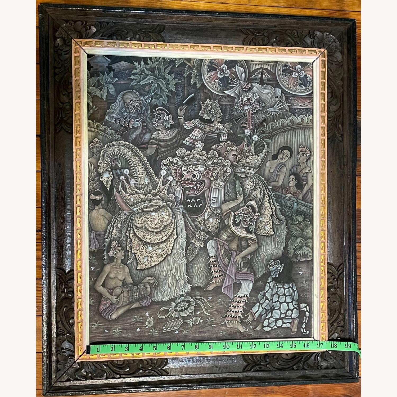 Vintage Ubud Indonesian Festival Painting - image-5