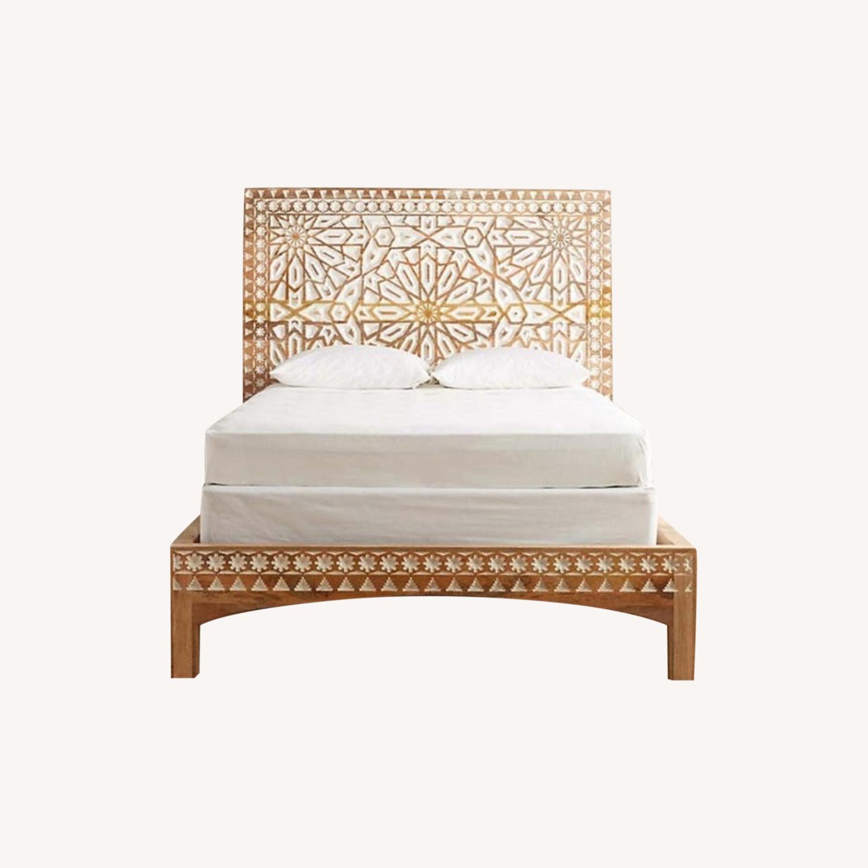Mughal Garden Handmade Geometric Design Bed Frame - image-0