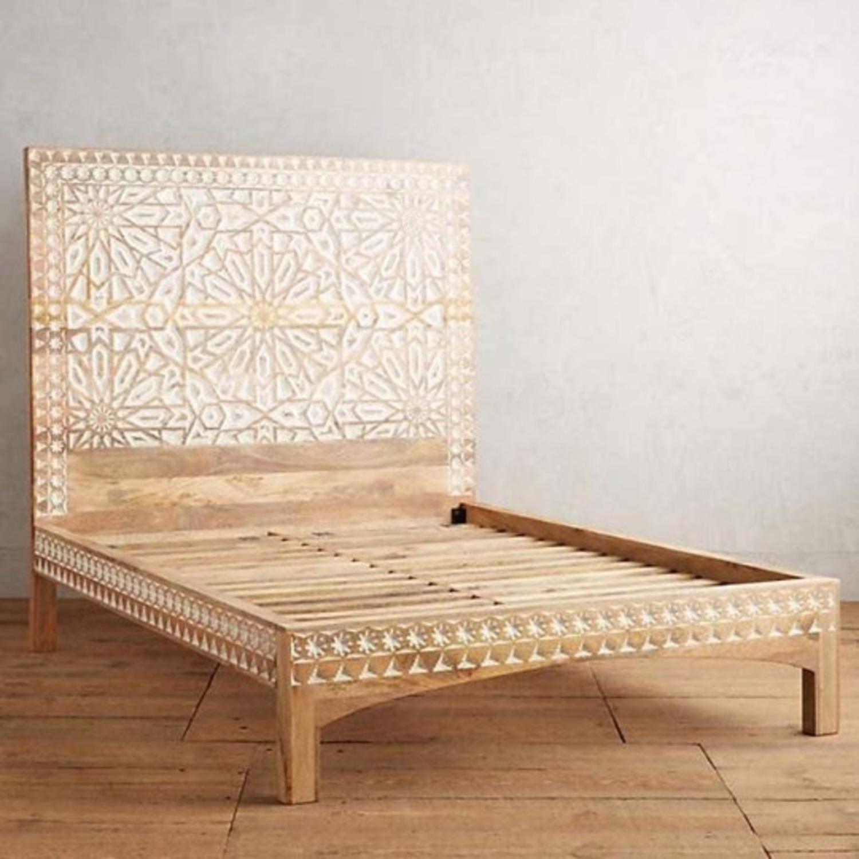 Mughal Garden Handmade Geometric Design Bed Frame - image-3