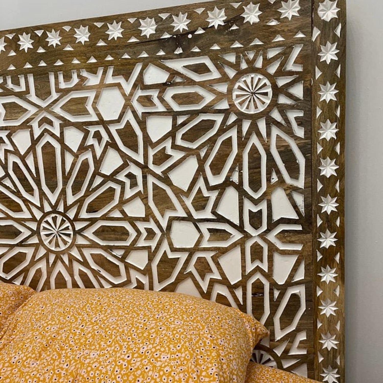 Mughal Garden Handmade Geometric Design Bed Frame - image-8