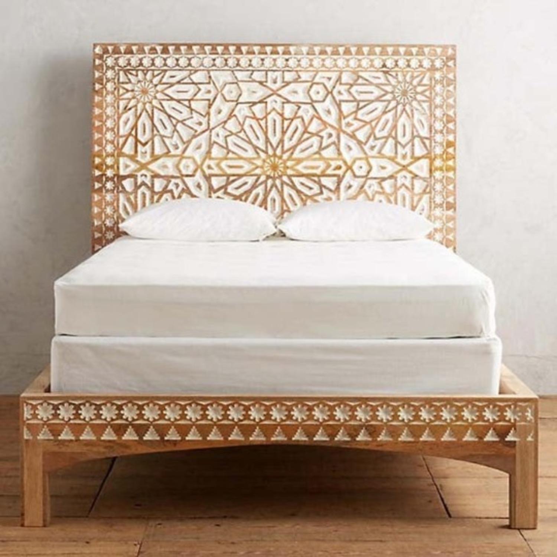 Mughal Garden Handmade Geometric Design Bed Frame - image-4