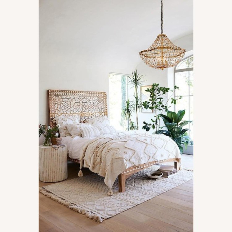 Mughal Garden Handmade Geometric Design Bed Frame - image-2