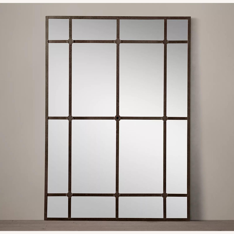 Restoration Hardware Factory Panel Leaner Mirror - image-0