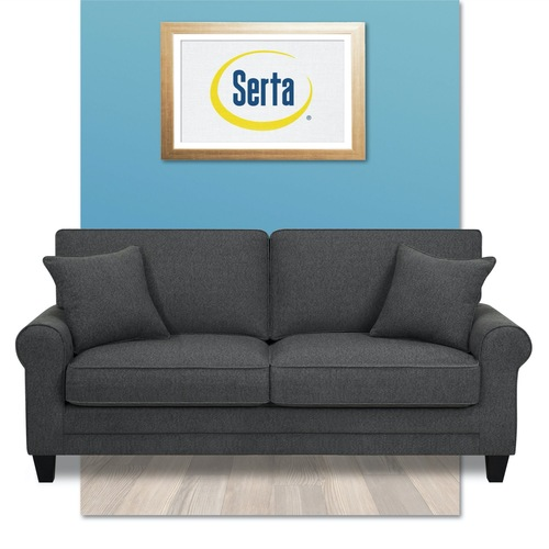 Used Wayfair Serta at Home Light Grey Couch for sale on AptDeco