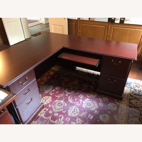 Used Bush Furniture Saratoga L Shaped Computer Desk for sale on AptDeco