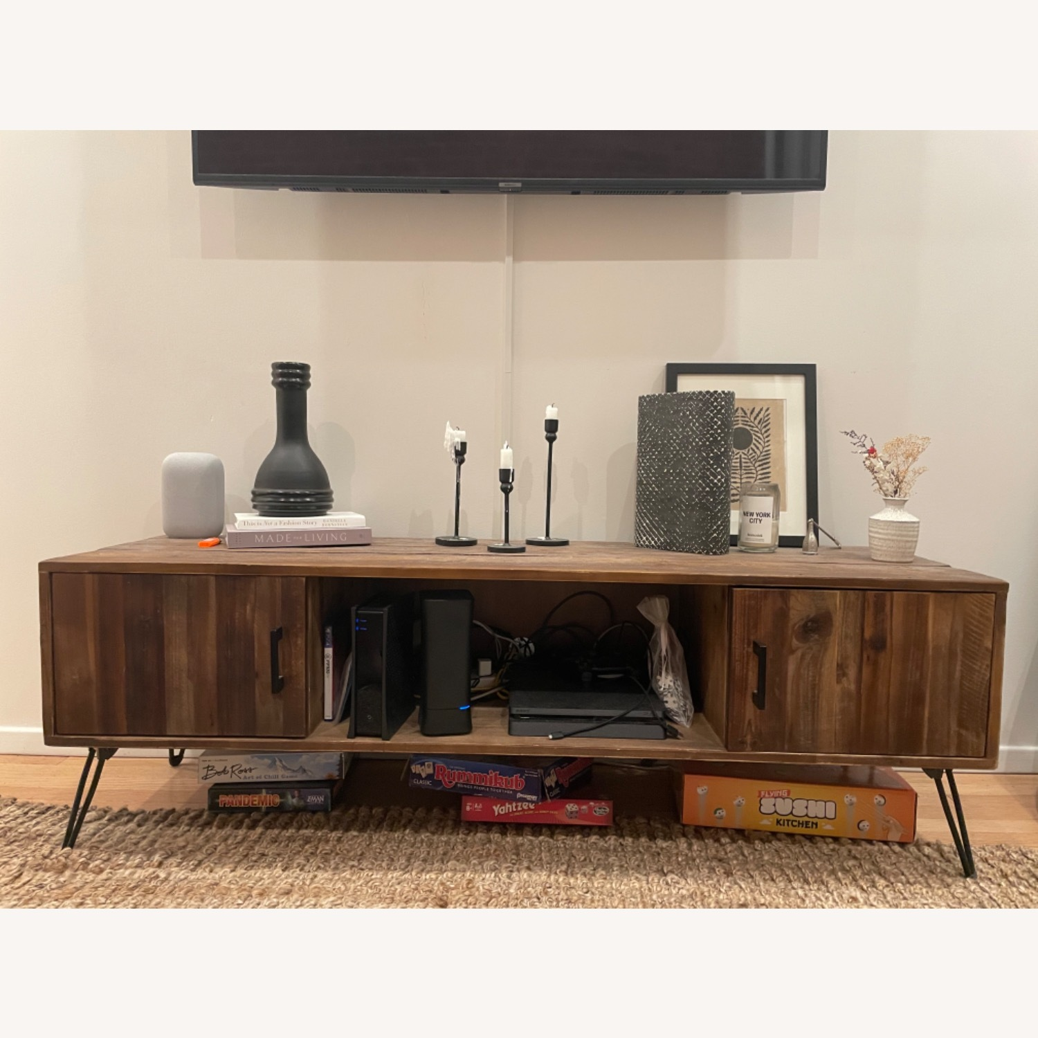 Wayfair Adger Solid Wood TV Stand - image-1