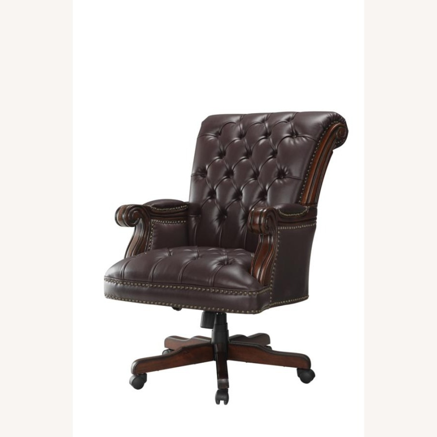 Office Chair In Dark Brown Finish - image-0