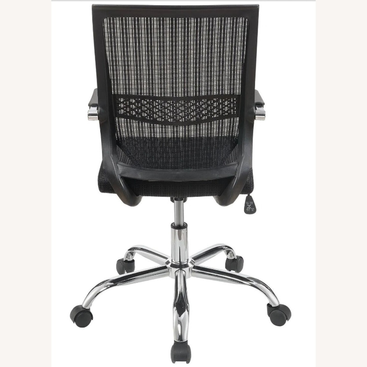Office Chair In Black Fabric Finish W/ Mesh Back - image-2