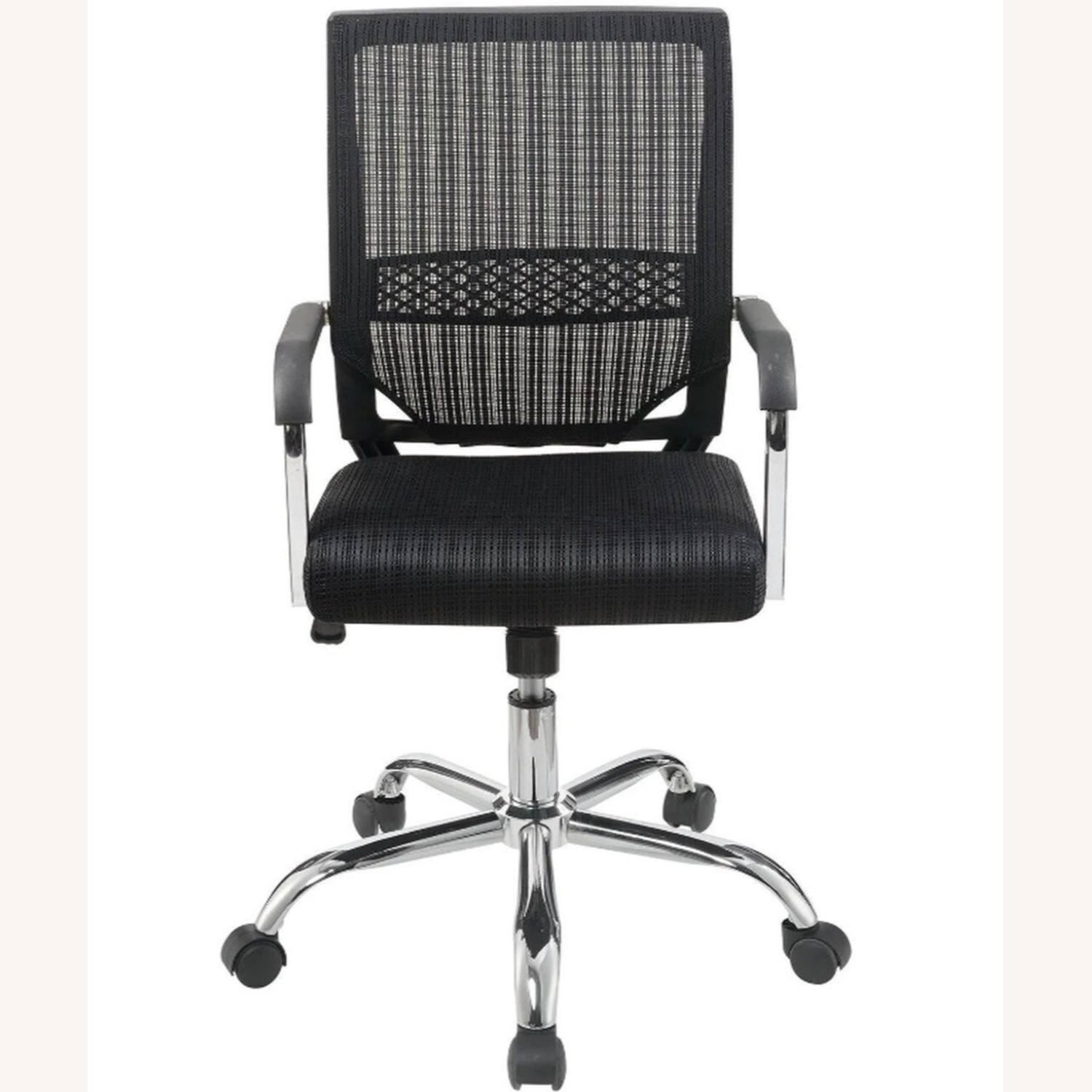 Office Chair In Black Fabric Finish W/ Mesh Back - image-1