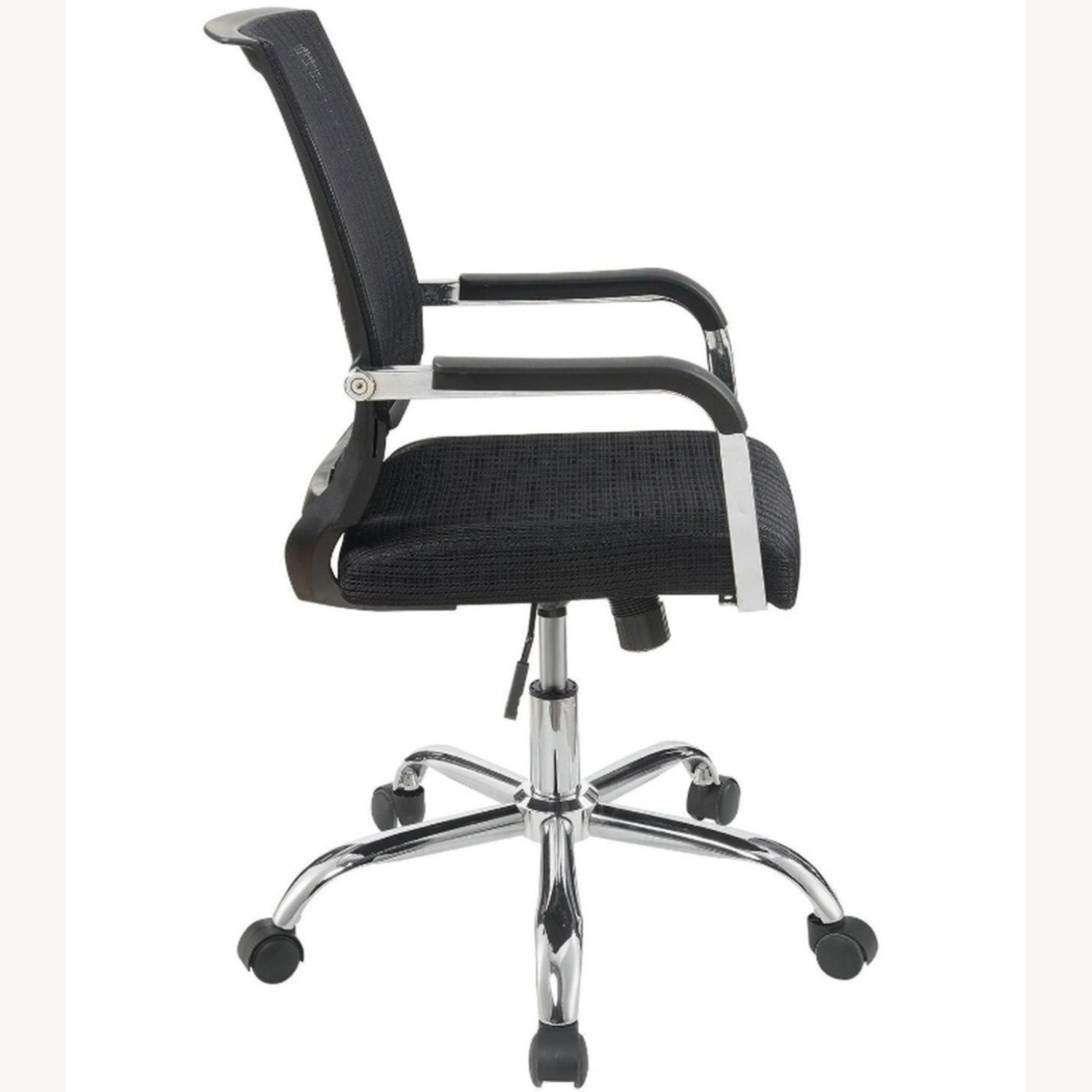 Office Chair In Black Fabric Finish W/ Mesh Back - image-3