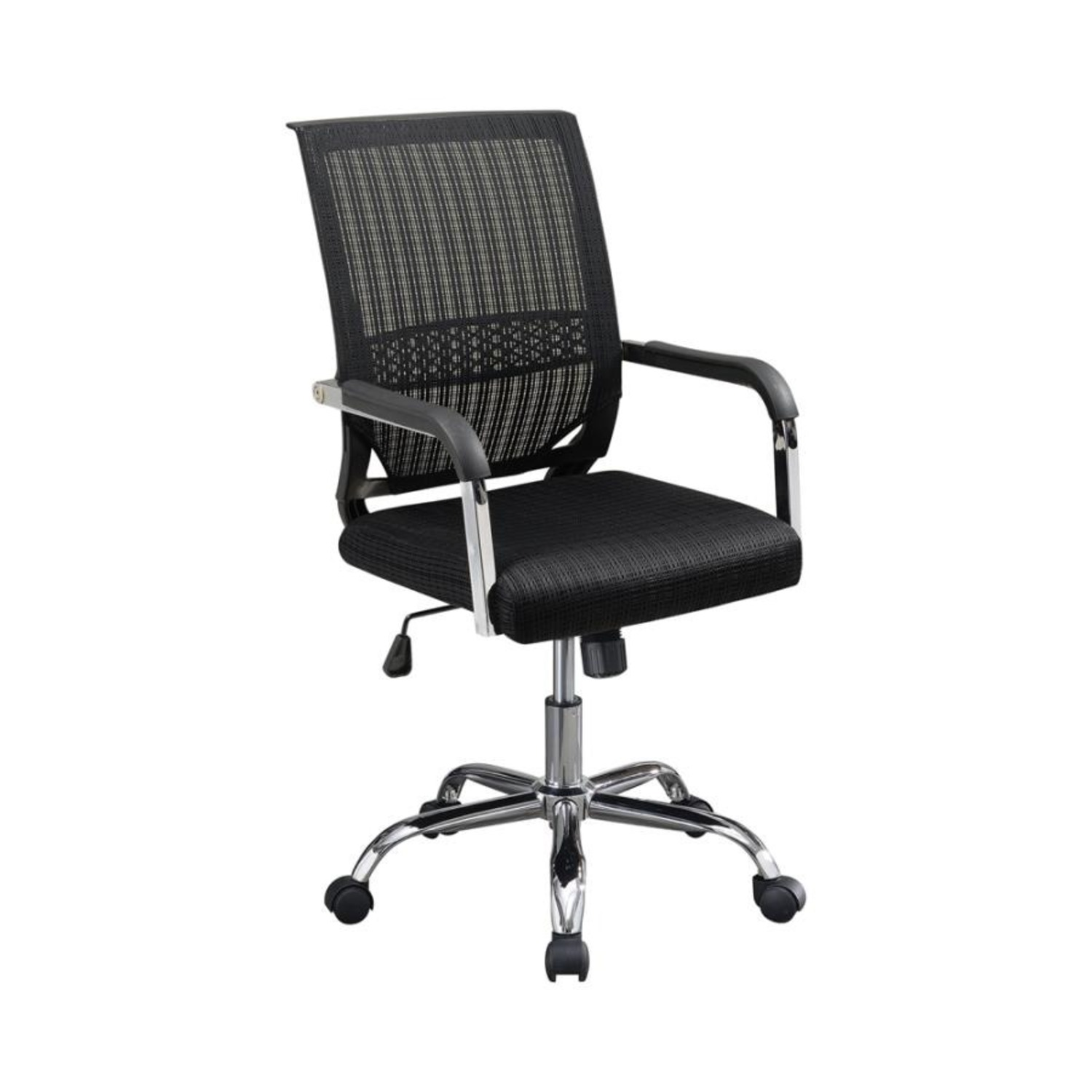 Office Chair In Black Fabric Finish W/ Mesh Back - image-0