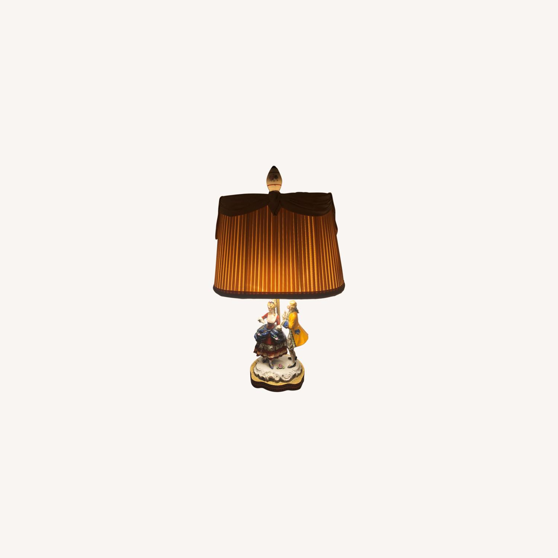 Porcelain Figurine Table Lamp B - image-0