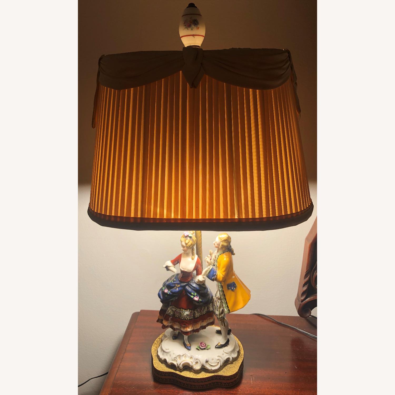 Porcelain Figurine Table Lamp B - image-1