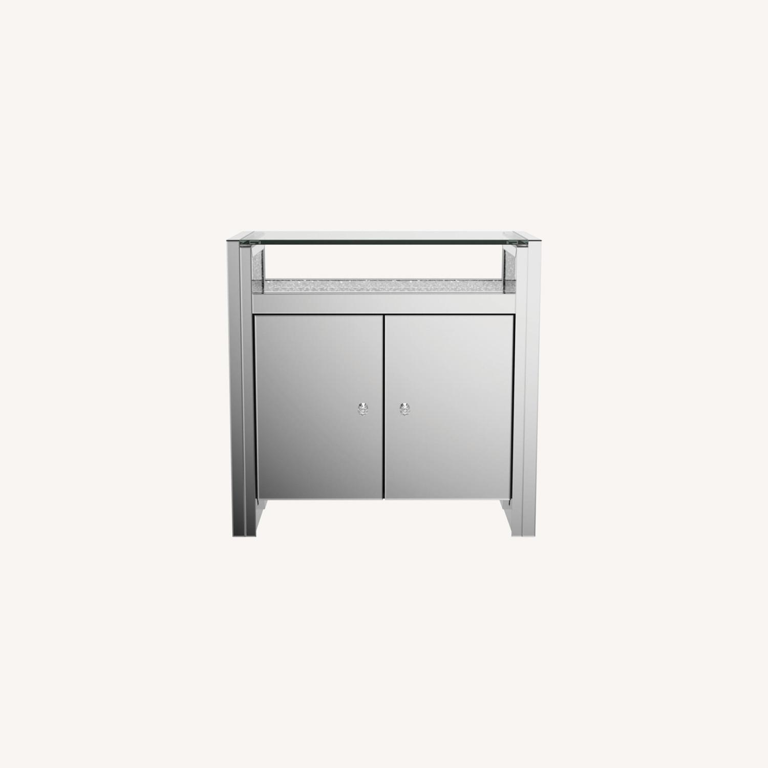 Cabinet In Silver & Clear Mirror Finish - image-8