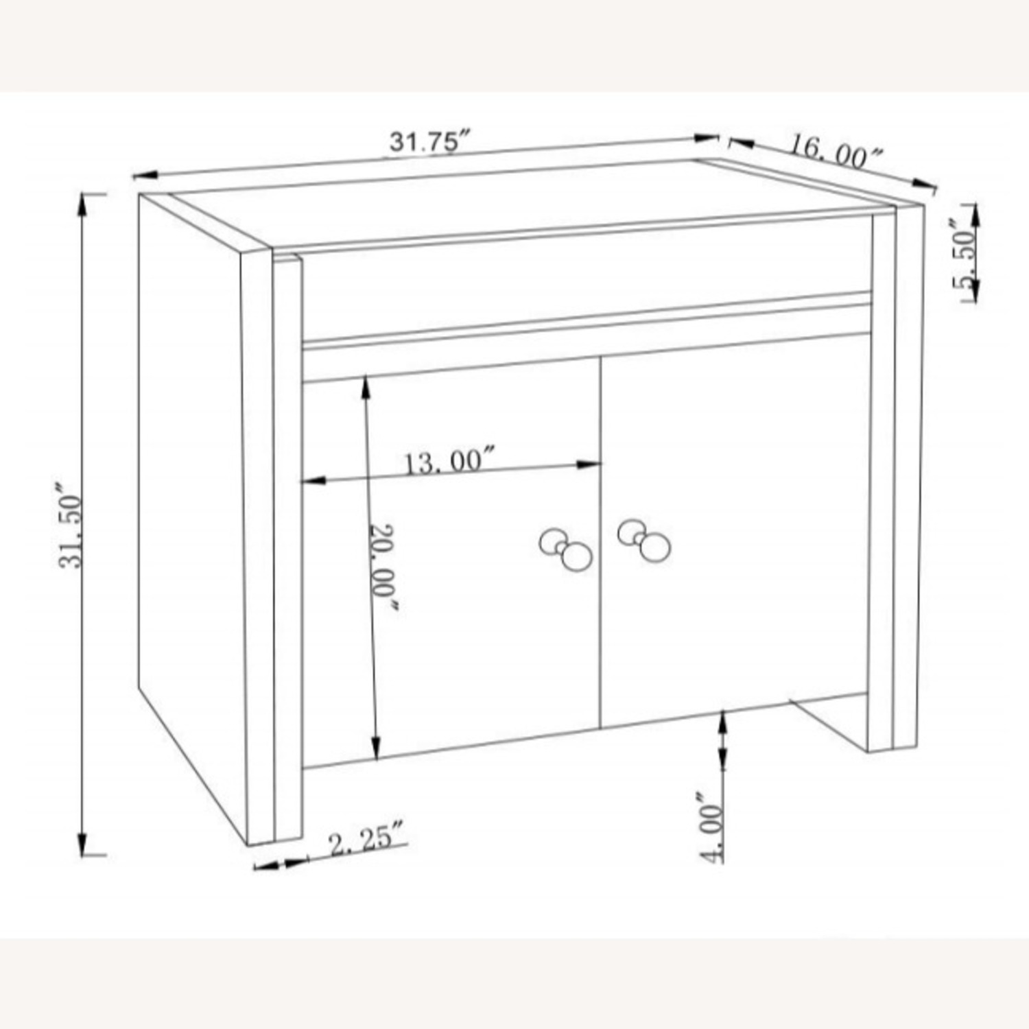Cabinet In Silver & Clear Mirror Finish - image-7