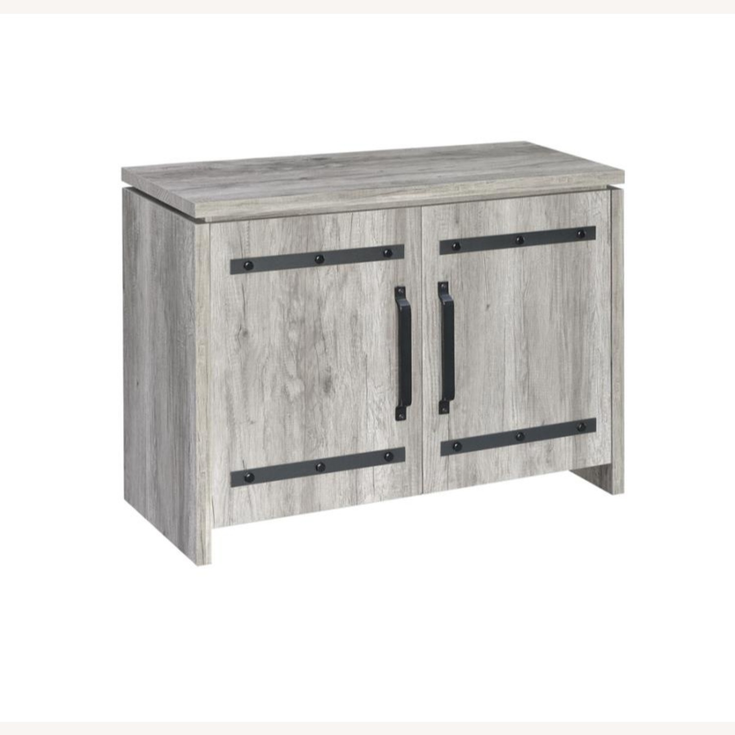 Accent Cabinet In Grey Driftwood W/ Rustic Metals - image-0
