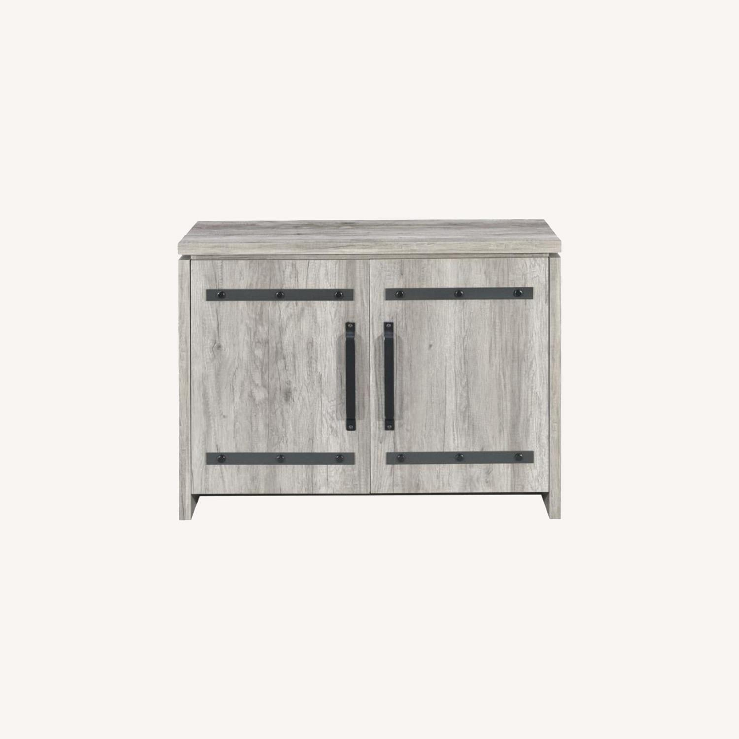 Accent Cabinet In Grey Driftwood W/ Rustic Metals - image-7