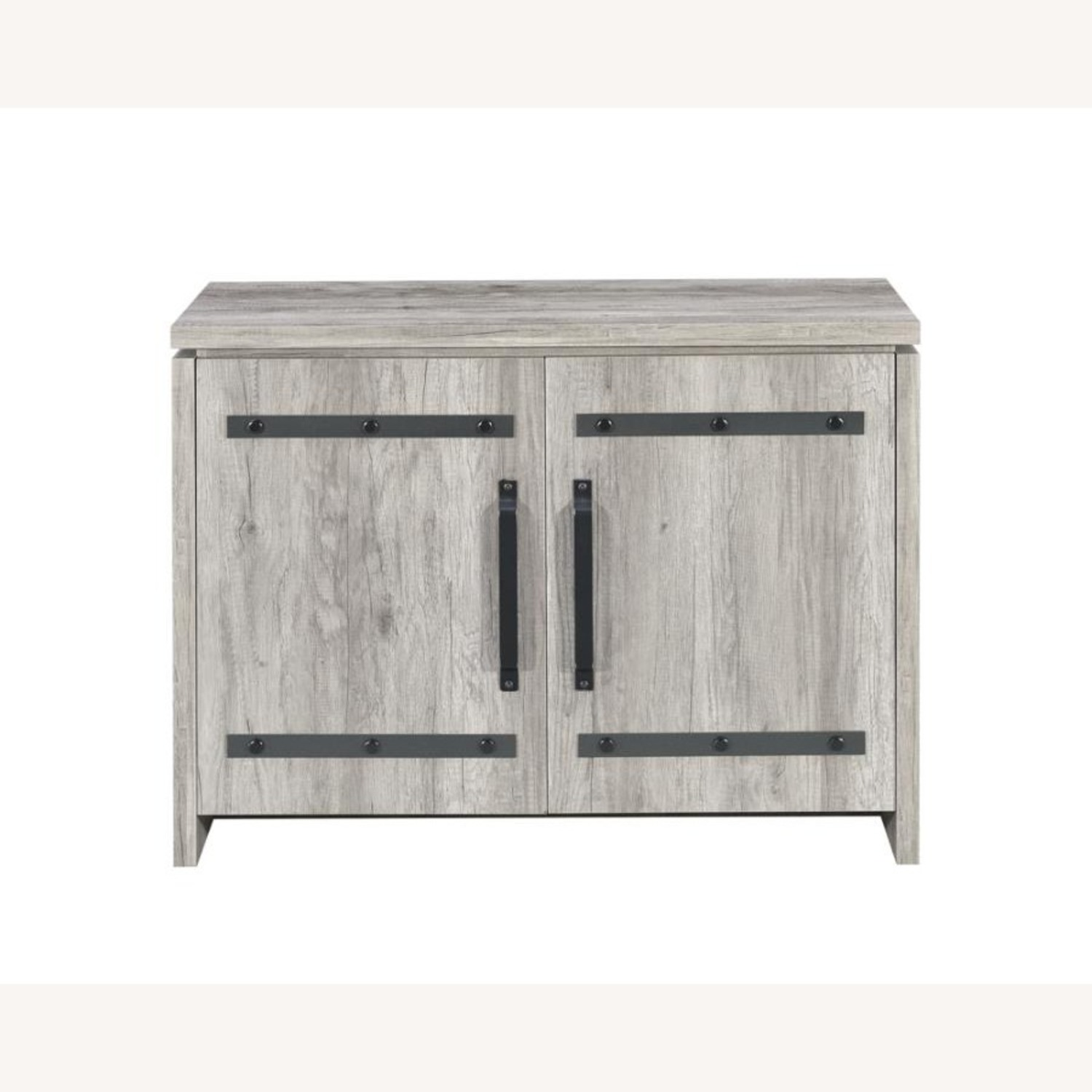 Accent Cabinet In Grey Driftwood W/ Rustic Metals - image-2