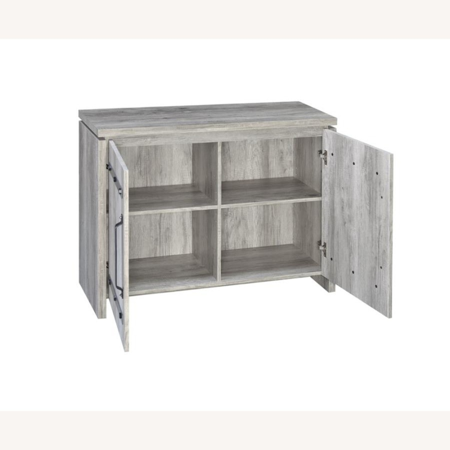 Accent Cabinet In Grey Driftwood W/ Rustic Metals - image-1