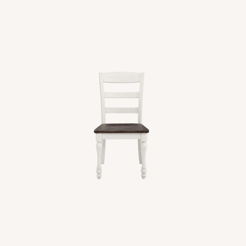 Side Chair In Dark Cocoa & Coastal White Finish - image-6