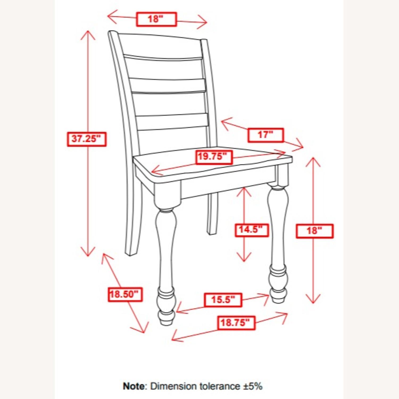 Side Chair In Dark Cocoa & Coastal White Finish - image-5