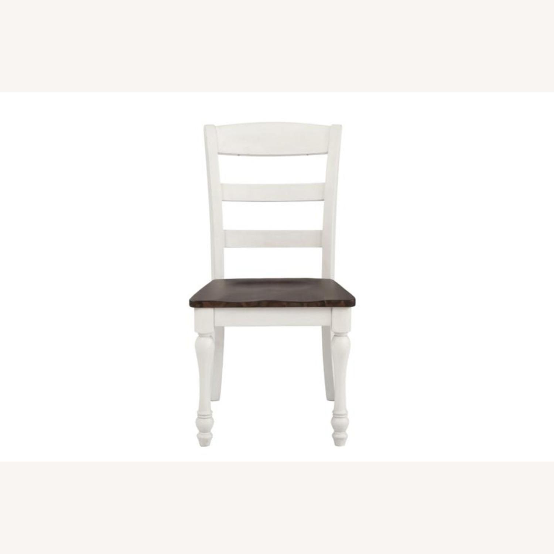 Side Chair In Dark Cocoa & Coastal White Finish - image-1