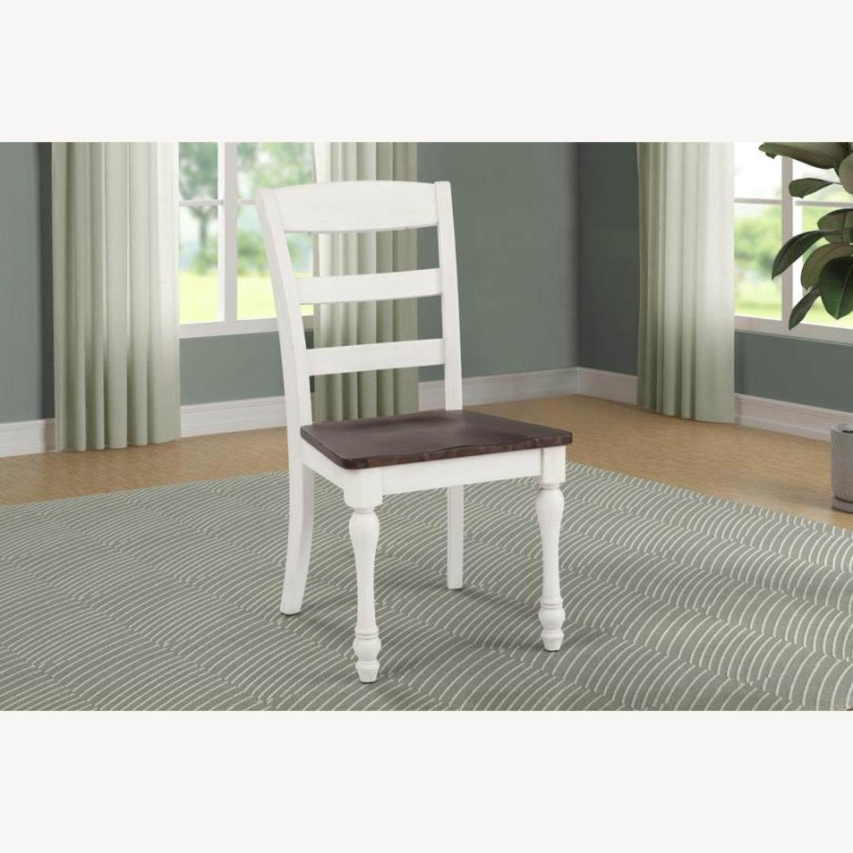 Side Chair In Dark Cocoa & Coastal White Finish - image-4