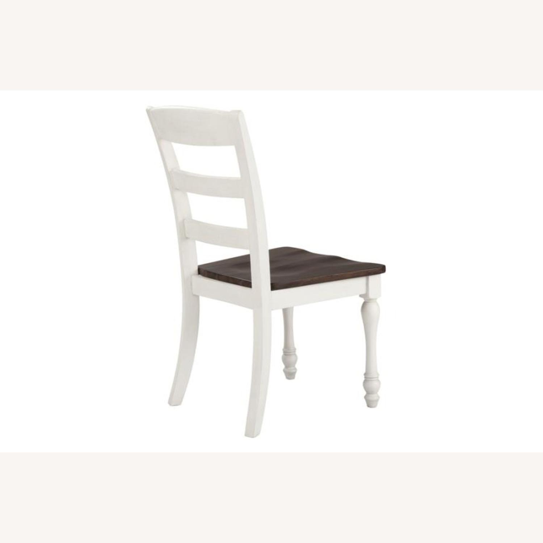 Side Chair In Dark Cocoa & Coastal White Finish - image-3