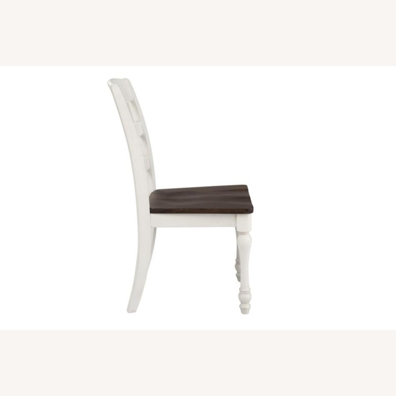 Side Chair In Dark Cocoa & Coastal White Finish - image-2
