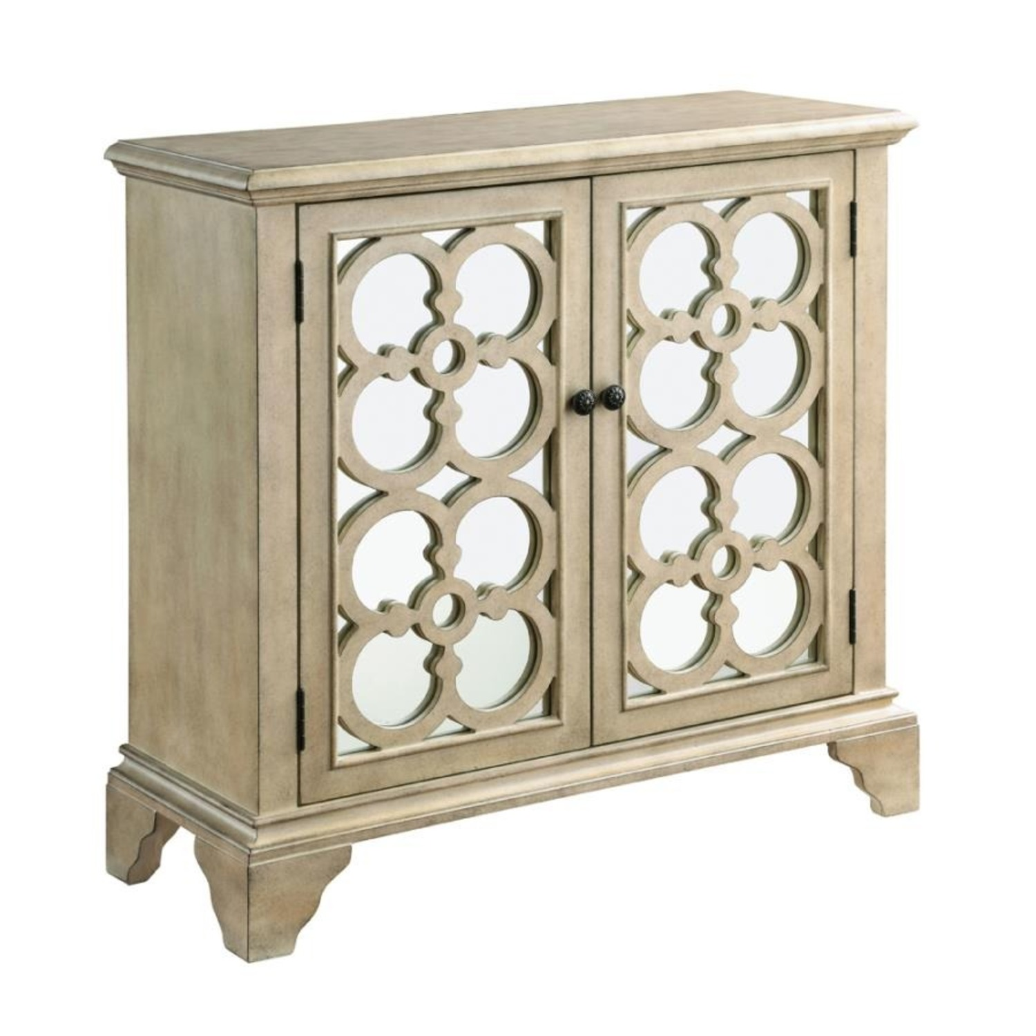 Accent Cabinet In Natural Hardwood Finish - image-0