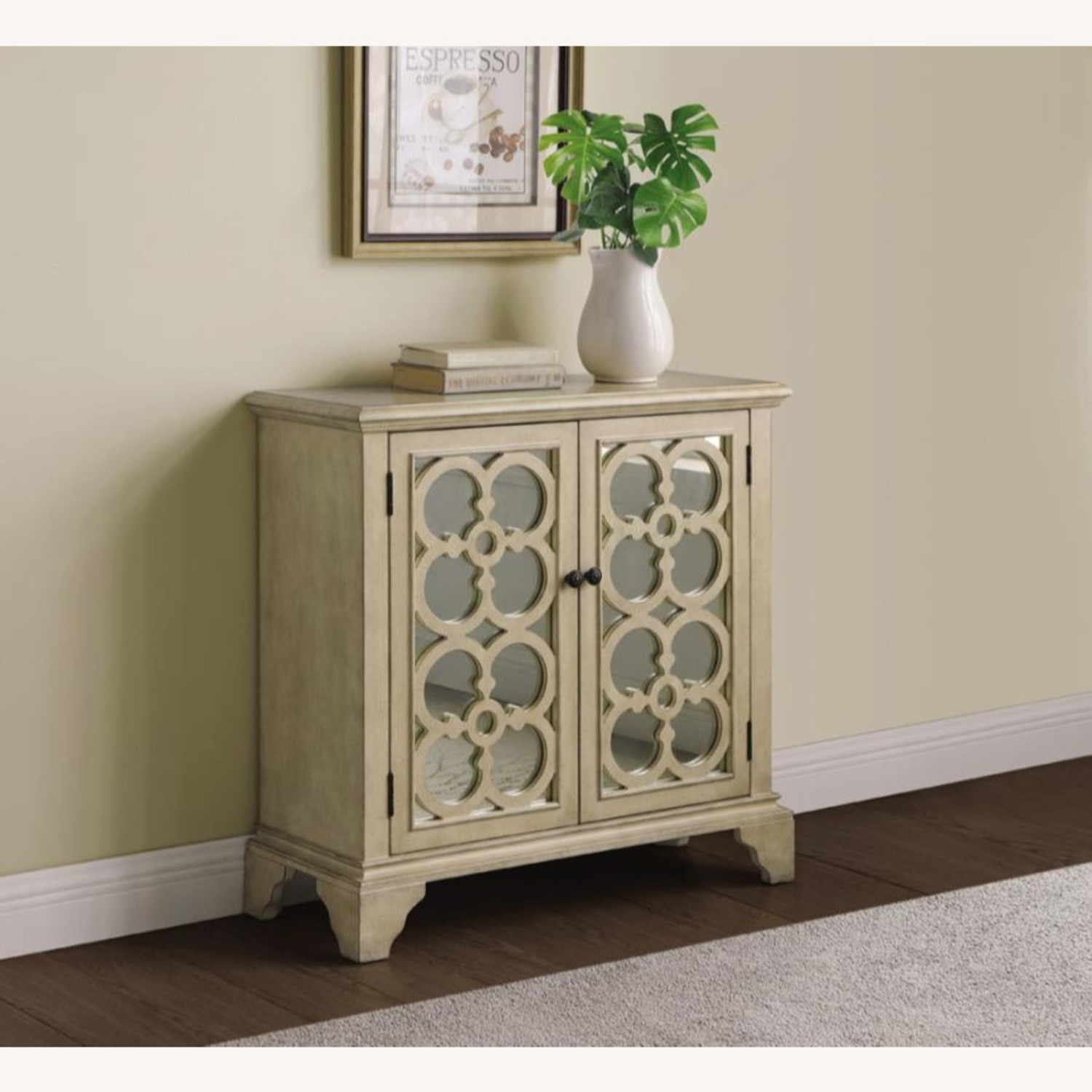 Accent Cabinet In Natural Hardwood Finish - image-1