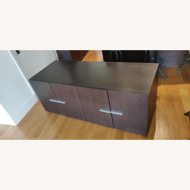 Crate & Barrel Solid Wood Storage Unit - image-5