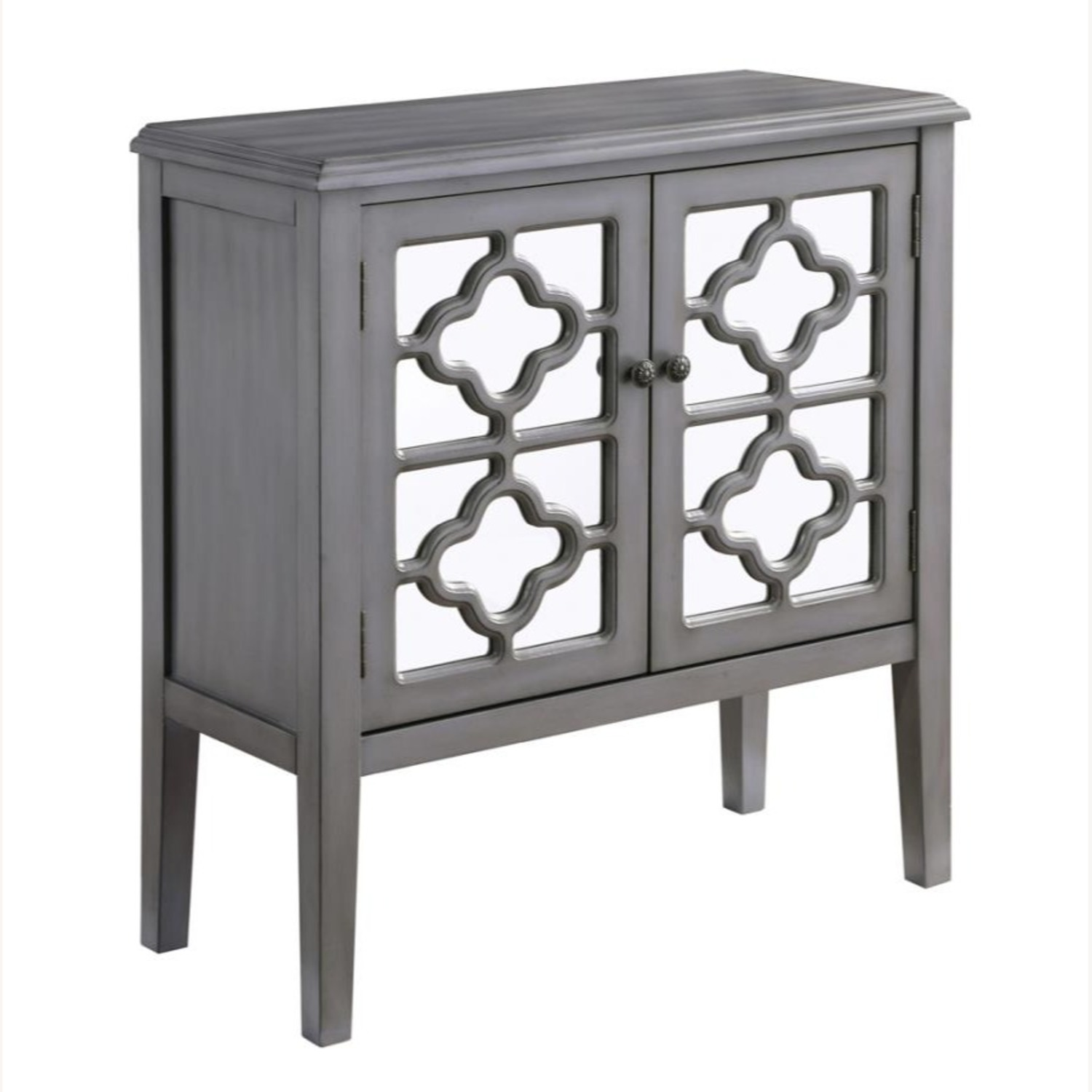 Accent Cabinet In Grey Hardwood Finish - image-0