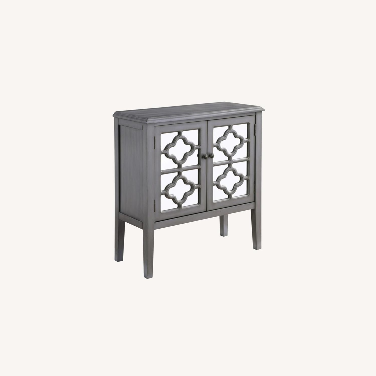 Accent Cabinet In Grey Hardwood Finish - image-3