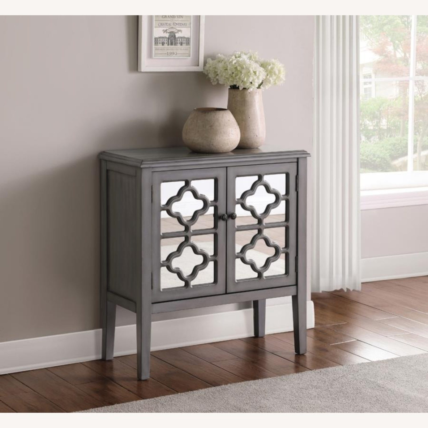 Accent Cabinet In Grey Hardwood Finish - image-1