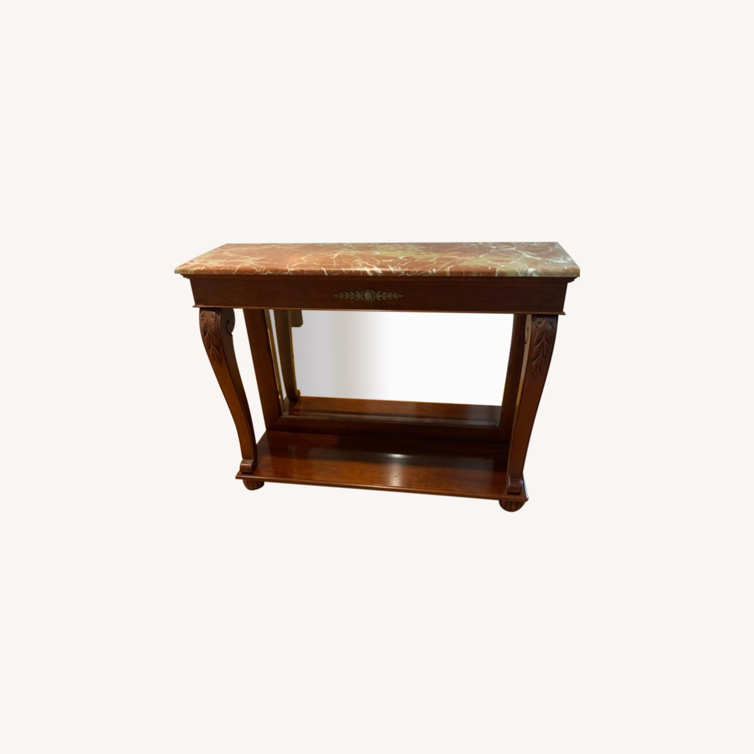 Ethan Allen Marble Console Table - image-0