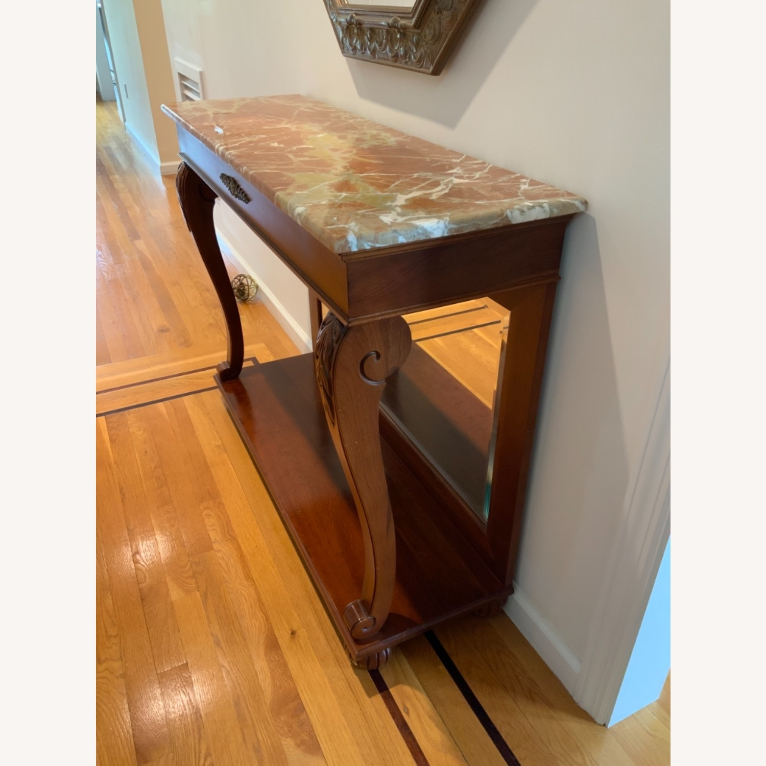 Ethan Allen Marble Console Table - image-2