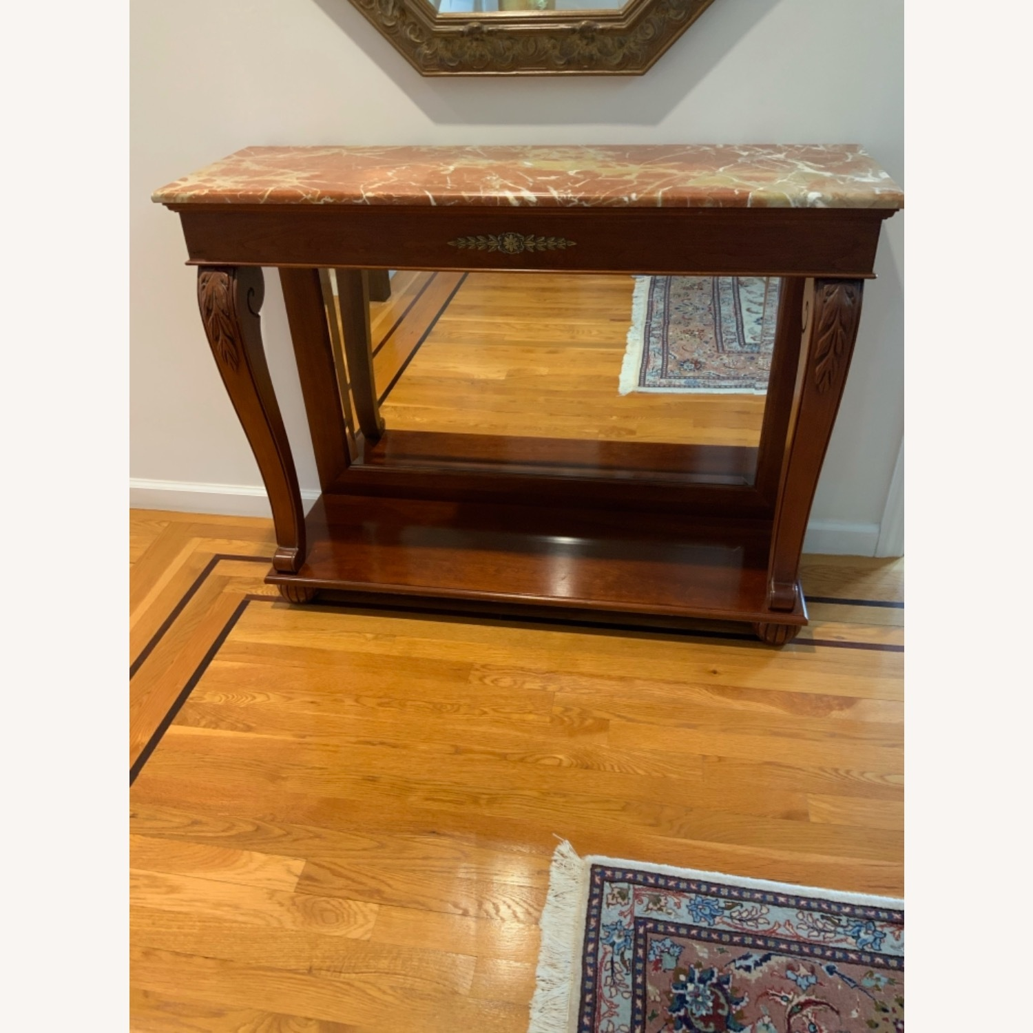 Ethan Allen Marble Console Table - image-1