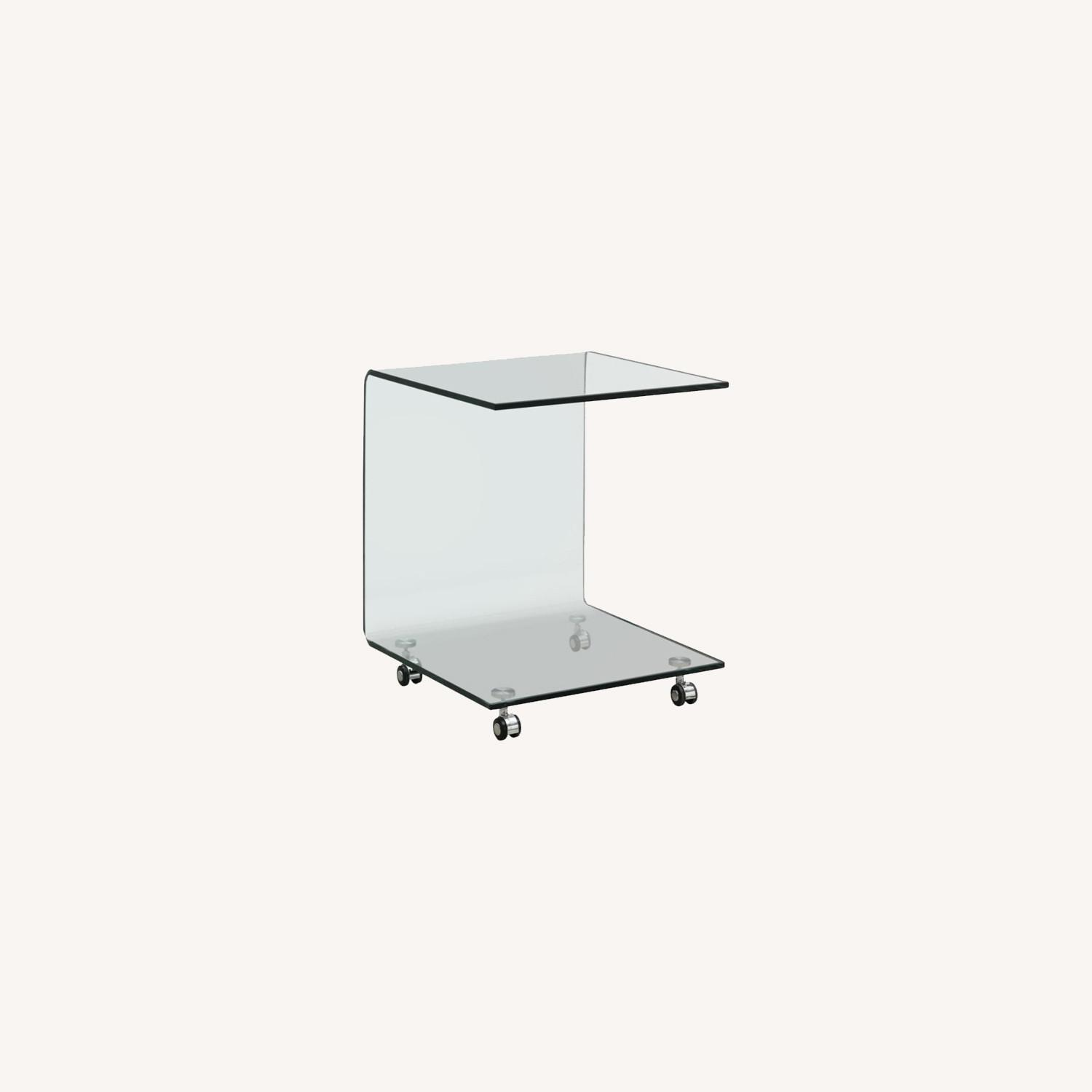 Accent Table In Clear Tempered Glass Finish - image-3