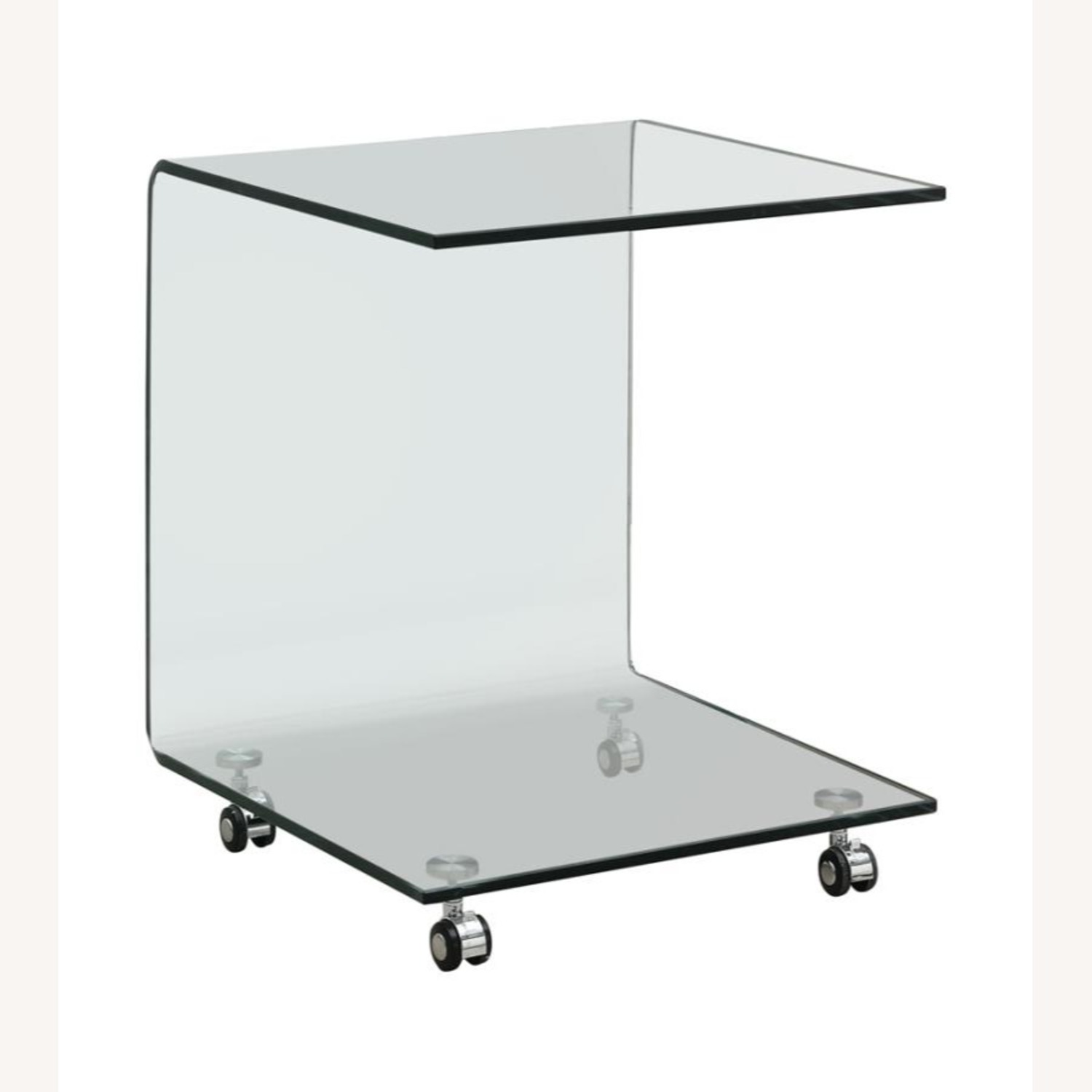 Accent Table In Clear Tempered Glass Finish - image-0