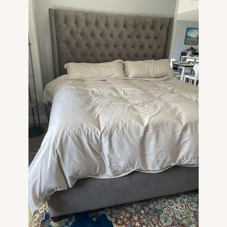 Arhaus King Tufted Nailhead Bed - image-2